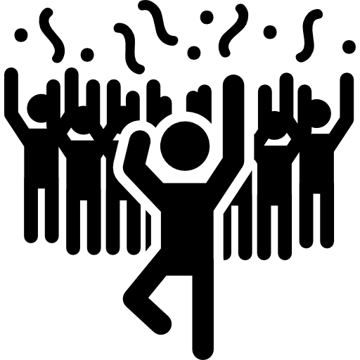 Man in a party dancing with people